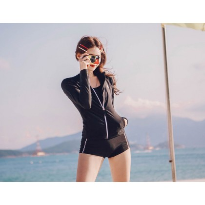 3IN1 Belgium Swimsuit In Black