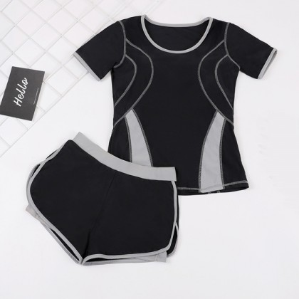2IN1 Sporty Design Swimsuit With Gym